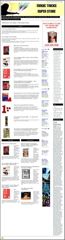 Thumbnail Magic Tricks PLR Amazon Store Website