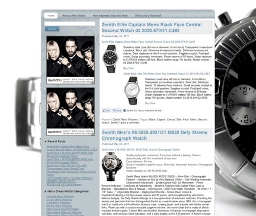 Thumbnail Mens Luxury Dress Watches PLR Amazon Store Website
