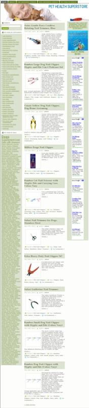 Thumbnail Pet Health PLR Amazon Turnkey Store Website