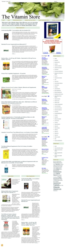 Thumbnail Vitamin Store PLR Amazon Turnkey Website