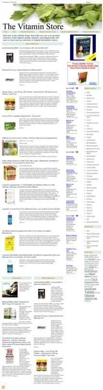 Thumbnail Vitamin Store PLR Amazon Turnkey Website