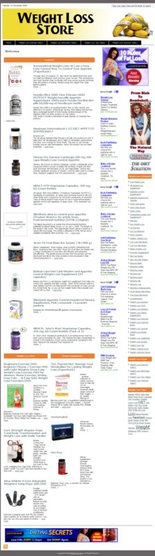 Thumbnail Weight Loss PLR Amazon Turnkey Store Website
