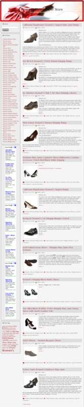 Thumbnail Womens Shoes PLR Amazon Turnkey Store Website
