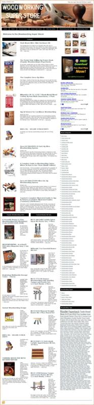 Thumbnail Woodworking PLR Amazon Store Websites