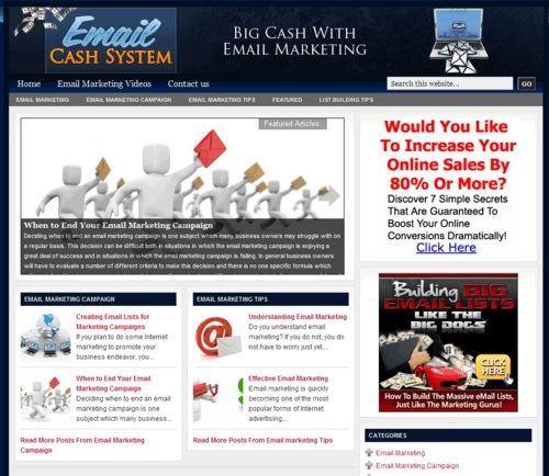 Pay for Email Marketing PLR Website Deluxe with Private Label Rights