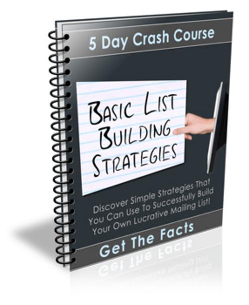 Pay for Basics of Listbuilding PLR Autoresponder Message