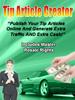 Thumbnail Tip Article Creator by Tony de Bree - Quality PLR Download