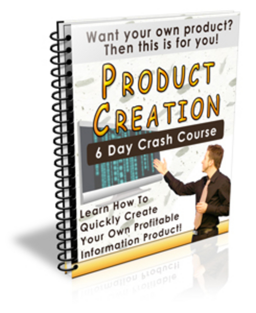 Pay for  Product Creation Crash Course with Private Label Rights  - Quality PLR Download