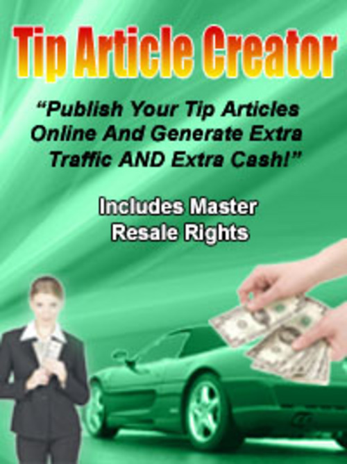 Pay for Tip Article Creator by Tony de Bree - Quality PLR Download