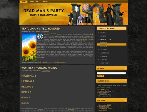 Pay for Halloween Templates > Wordpress - Blogger - HTML > MRR