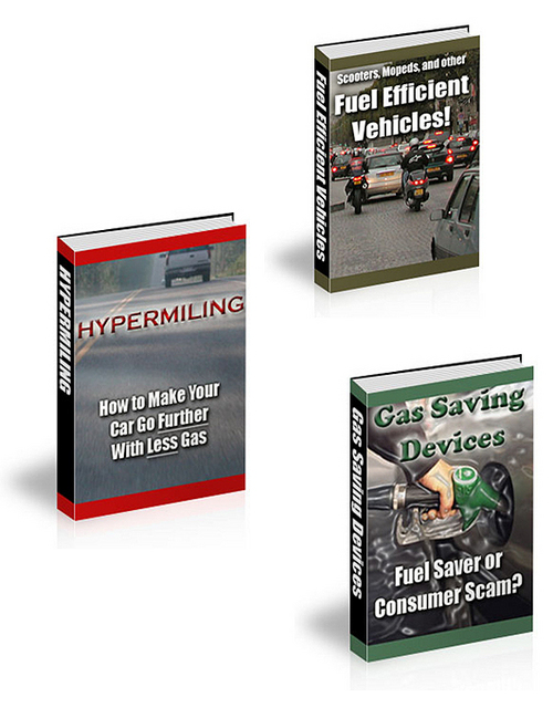 Pay for Gas savings PLR ebooks package