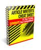 Thumbnail Article Writers Cheat Sheet plr