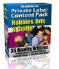 Thumbnail Private Label Article Pack : Hobbies, Arts & Crafts PLR