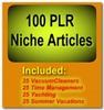 Thumbnail 100 PLR Niche Articles