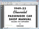 Thumbnail 1949 - 1953 Chevrolet Chevy Shop Manual