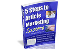 Thumbnail 5 Steps to Article Marketing Success