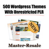 Thumbnail 500 WP Themes with Unrestricted PLR