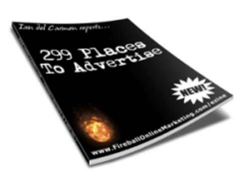 Pay for 299 Places To Advertise plr