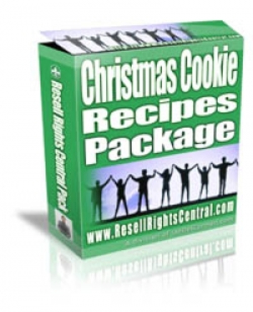 Pay for Christmas Cookie Recipes Package plr