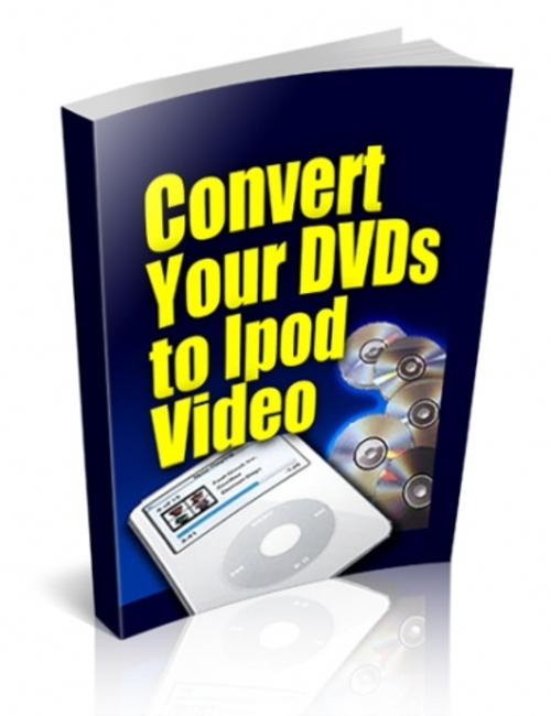 convert your dvds to ipod video plr download ebooks