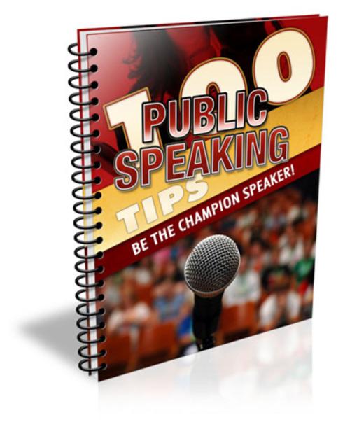 Pay for 100 Public Speaking Tips MRR