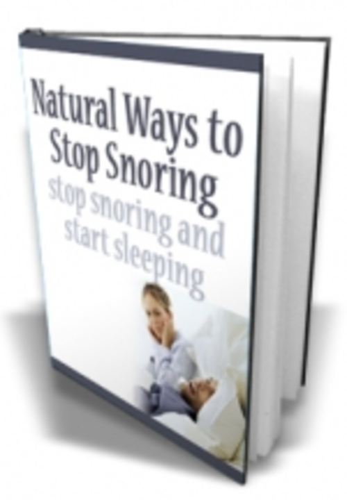 Natural Ways To Cure Snoring