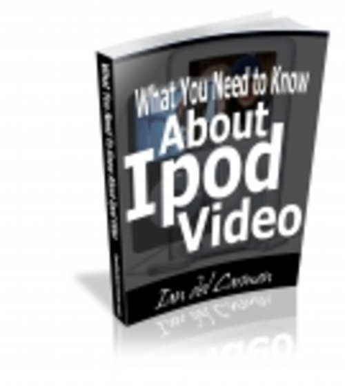 Pay for What You Need to Know About iPod Video mrr