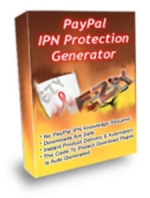 Pay for Paypal IPN Protection Generator plr