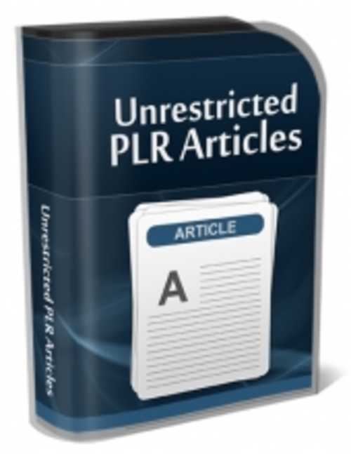 Pay for Unrestricted PLR Articles