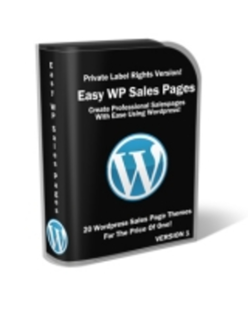 Pay for Easy Wordpress Sales Pages plr