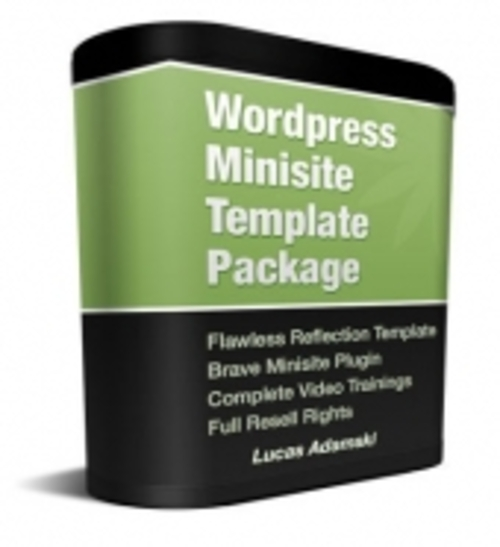 Pay for Wordpress Minisite Template Package plr