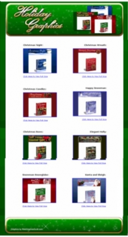 Pay for 12 Matching Sets Of Christmas Holiday Graphics pu