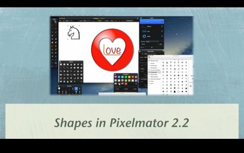 Pay for Shapes in Pixelmator 2.2