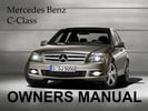 Thumbnail MERCEDES BENZ 2009 C-CLASS C230 C300 C350 C63 4MATIC SPORT OWNERS OWNER'S USER OPERATOR MANUAL (PDF)