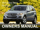 Thumbnail MERCEDES BENZ 2009 M-CLASS ML320 CDI ML350 ML500 ML63 AMG OWNERS OWNER'S USER OPERATOR MANUAL (PDF)