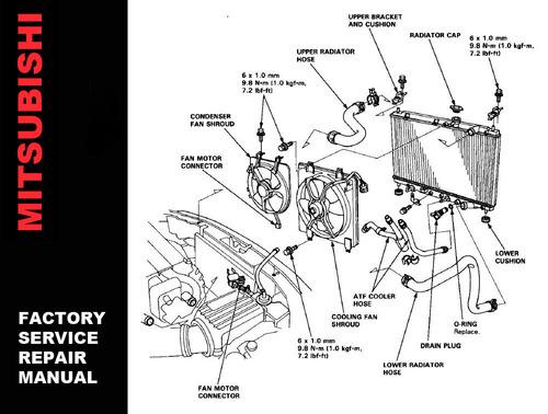 2002 mitsubishi lancer repair shop manual original 3 vol. Set.