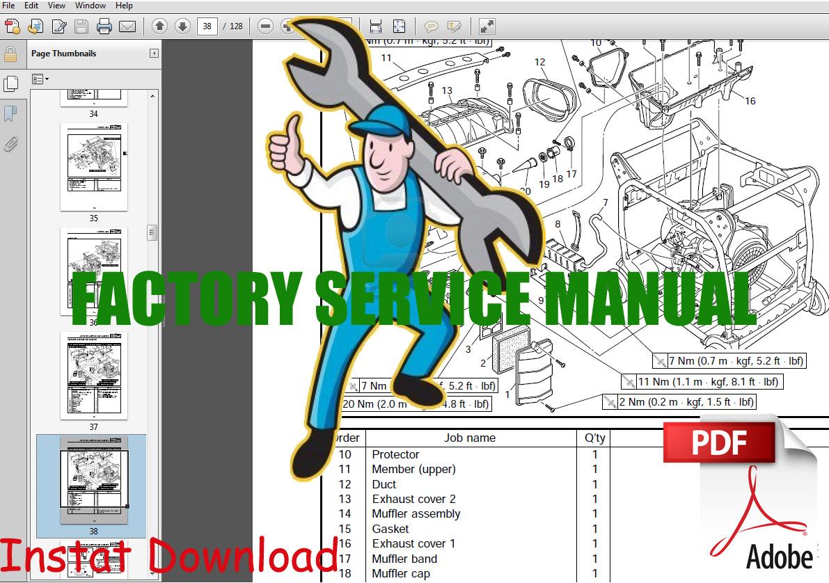 Thumbnail Yamaha EF4600DX / YG6600DEY / YG6600DH / YG6600DJ / YG6600DX / YG6600DY Generator Service Manual