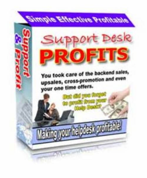 Pay for Support Desk Profits (with PLR)