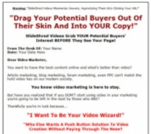 Pay for 11 Slide Shred HOT Niche Videos (with Resell Rights) 180mb