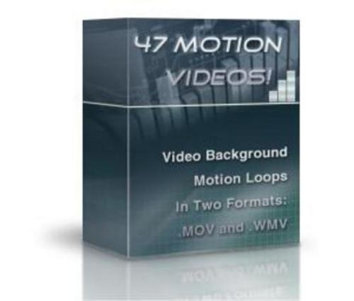 Pay for 47 Motion Video Background Loops (with PLR)