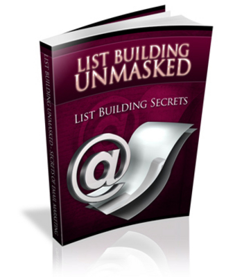 Pay for List Building Unmasked With PLR
