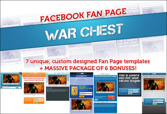 Pay for Facebook Fanpage Warchest Templates With PLR