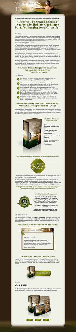 Pay for Achieve Your Dreams Niche Turnkey Package