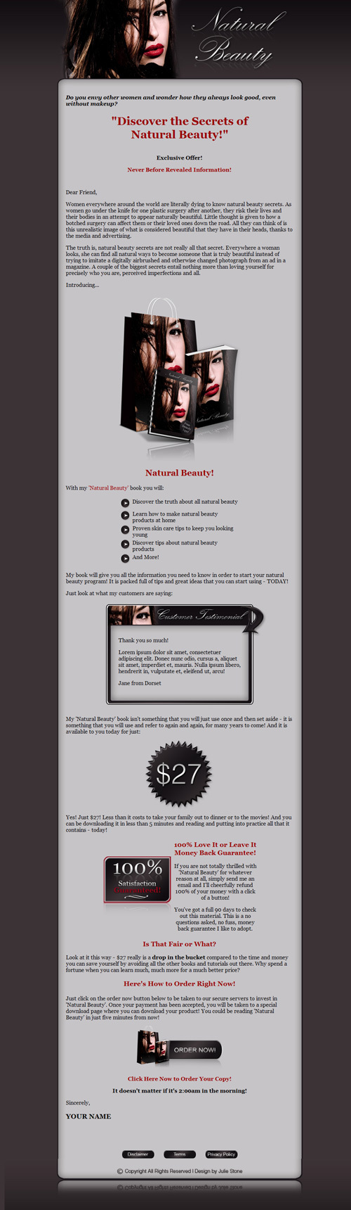 Pay for Natural Beauty Niche Turnkey Package