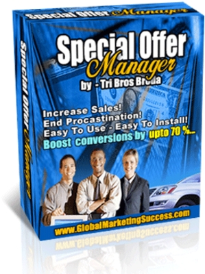 Pay for Special Offer Manager Software With Resell Rights