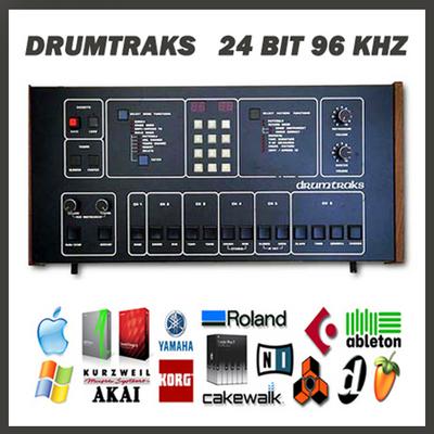 sequential circuits drumtraks vintage drum machine original 24 bit. Black Bedroom Furniture Sets. Home Design Ideas