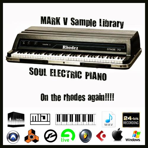 Fender rhodes Piano mark v stage 73 vintage sound wav sample - Down...