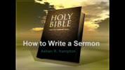 Thumbnail How to Write a Sermon Collection