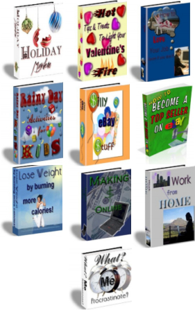 Pay for 10 PLR eBook Package