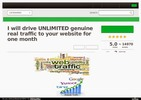Thumbnail I will drive UNLIMITED genuine real traffic to your website